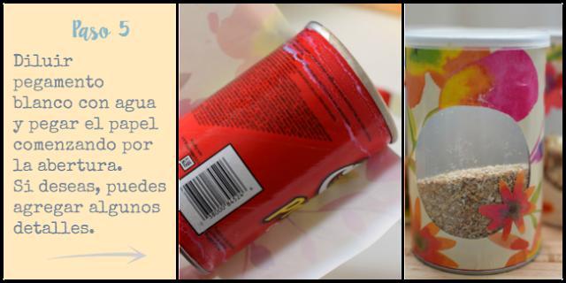 Paso 5: diluir el pegamento blanco con agua y pegar el papel comenzando por la abertura, si deseas, puedes agregar algunos detalles