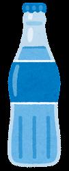 瓶に入った飲み物のイラスト(青)