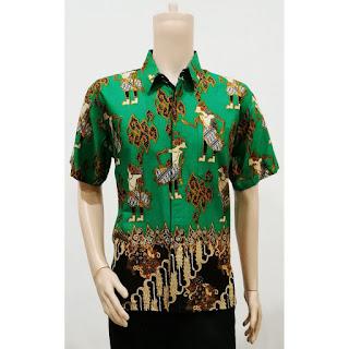 Batik Kemeja Lengan Pendek Wayang Parang