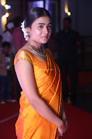 Shalini Pandey in Beautiful Orange Saree Sleeveless Blouse Choli ~  Exclusive Celebrities Galleries 038.JPG