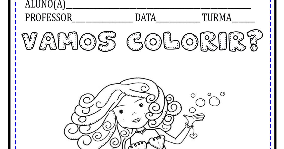 Desenho De Sereia Princesa Para Pintar Espaco Pedagogico