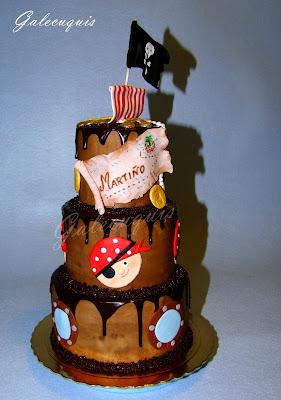 Dripped cake pirata
