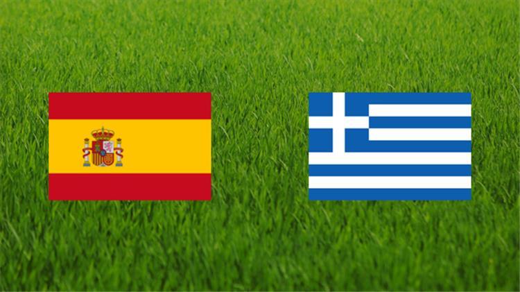 ملخص واهداف مباراة اسبانيا واليونان اليوم