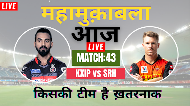 IPL 2020: PUNJAB  vs HYDERABAD : Match preview: Must win game for SRH team, Check the Probable Playing XI