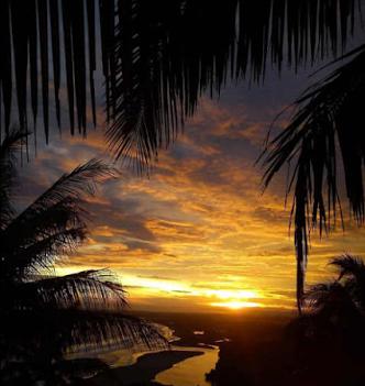 sunset PANTAI LEMBAH PUTRI PANGANDARAN