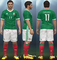 PES 2016 Colombia+Mexico Copa America 2016 Home kit
