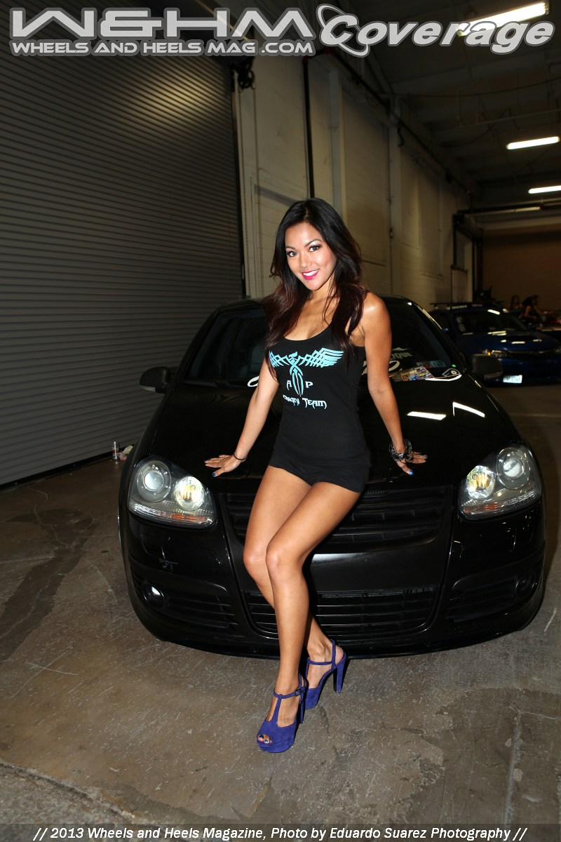 World Of Wheels Boston >> W&HM / Wheels And Heels Magazine: Christine Elle at 2013 Tuner Evolution Models by Contributor ...