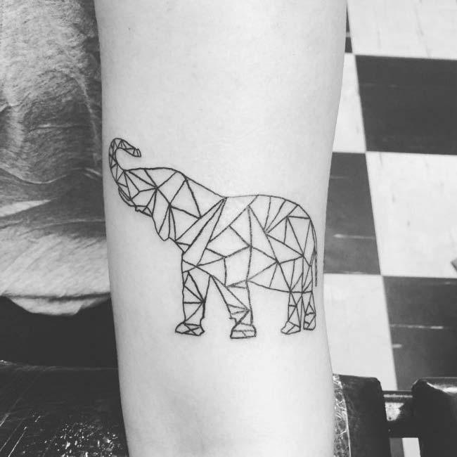 prisma elephant tattoo