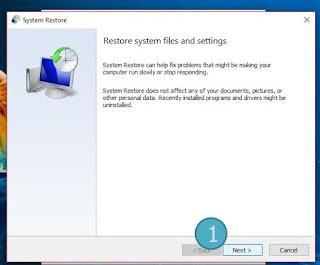 Cara Melakukan System Restore di Windows 10