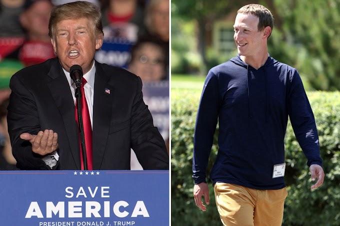 Trump calls Zuckerberg 'a criminal'
