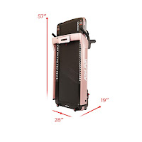 Sunny Health & Fitness Asuna SpaceFlex's slim folding deck, image, 7750P & 7750 Treadmills, dimensions