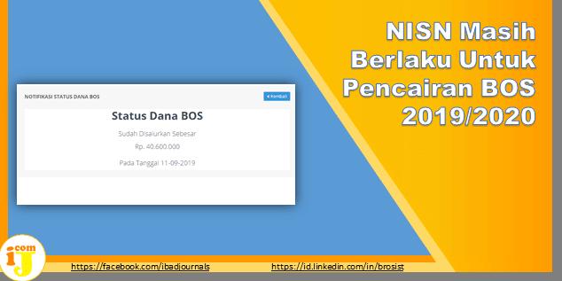 NISN Masih Berlaku Untuk Pencairan BOS 2019/2020