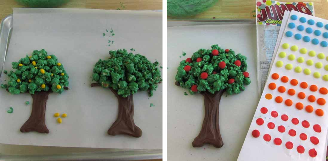 Chocolate Popcorn Trees Hungry Happenings Recipes