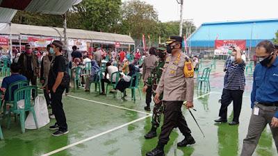 Sambut HUT Bhayangkara ke-75, Polres Indramayu Garap 14,9 Ribu Vaksinasi Massal