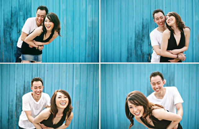 playful couple wedding