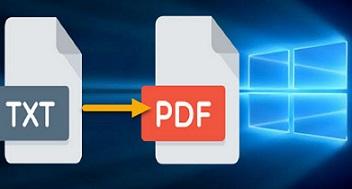 ميزة تحويل ملفات Text الى PDF في Windows 10