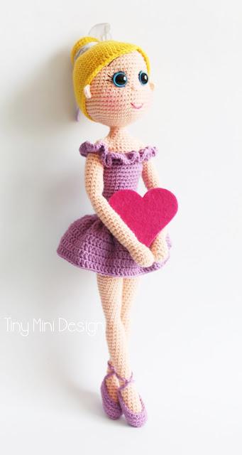 Amigurumi Balerin Bebek-Amigurumi Ballerina Doll Pattern