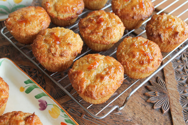 Food Lust People Love: These orange marmalade muffins bake up fluffy and tender. The yogurt adds an extra punch to the already flavorful buttery crumb. Pump up the orange flavor in these muffins by adding a little tangerine or orange zest to your granulated sugar before mixing in the other dry ingredients.