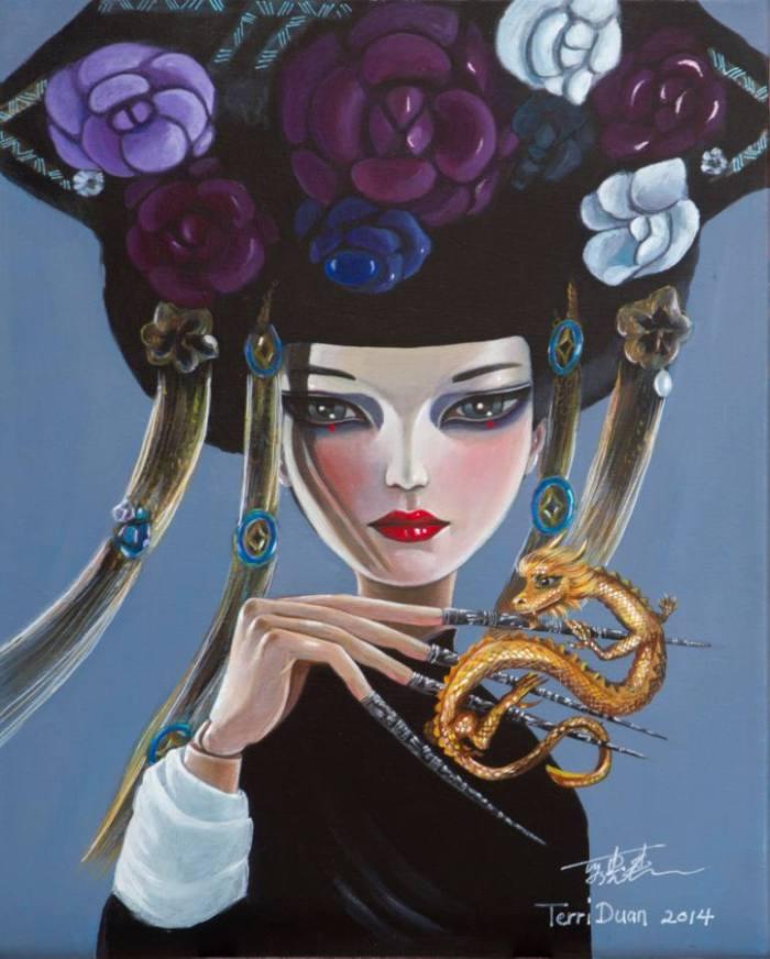 Китайский художник. Terri Duan (цифровая живопись)