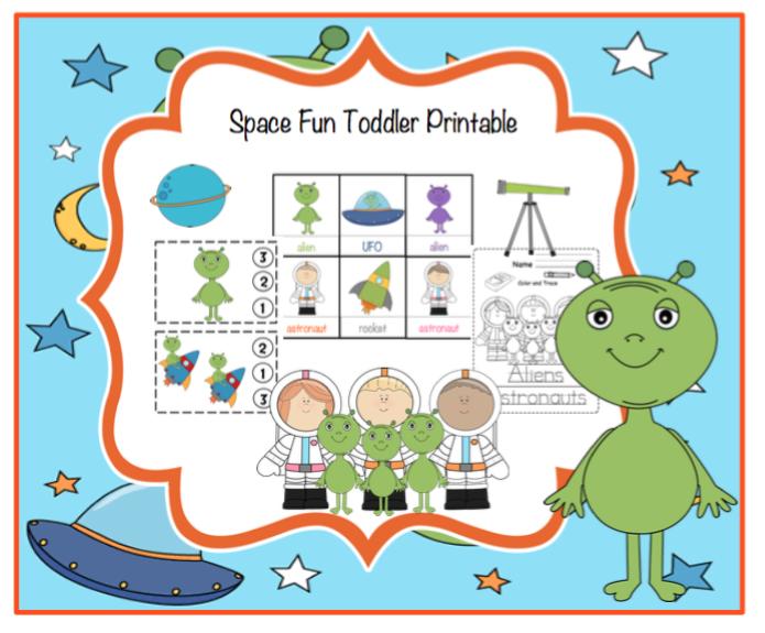 Free Space Fun Toddler Printable