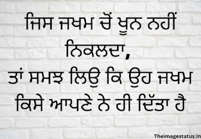 Punjabi Status about Life