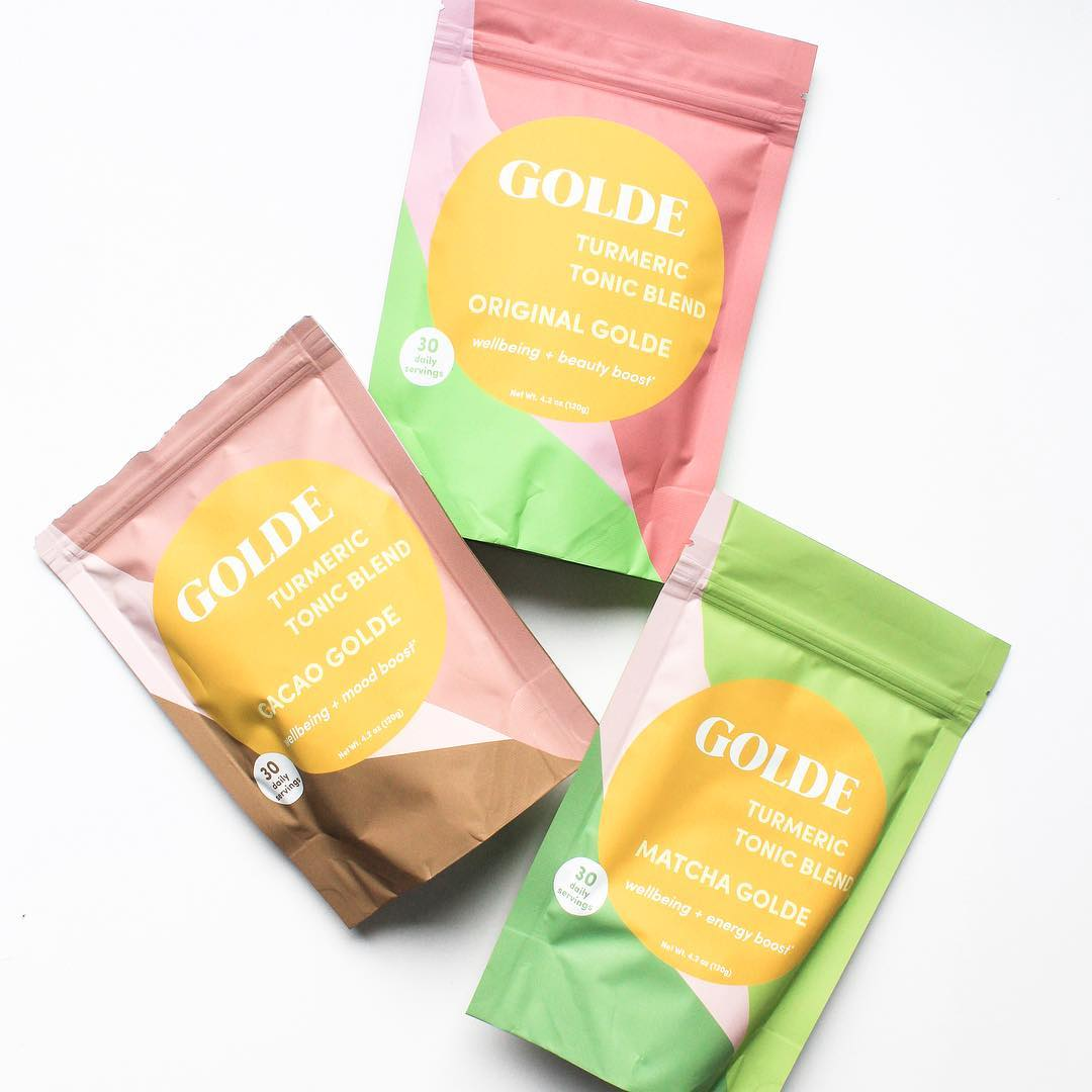 Golde Turmeric Tonic Blends Original, Cacao, Matcha. Beauty Heroes Wellness Discovery Limited Edition