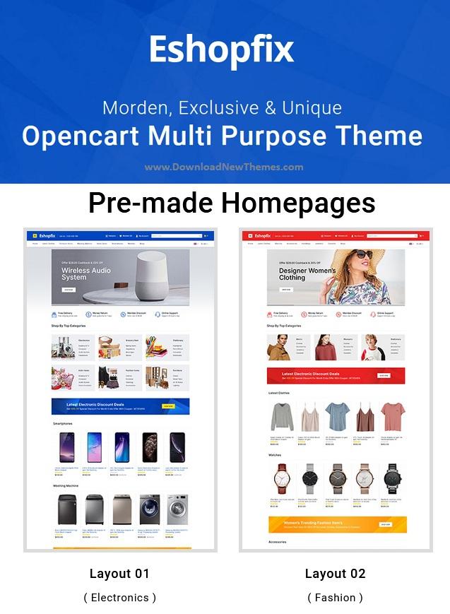 Multipurpose OpenCart Theme