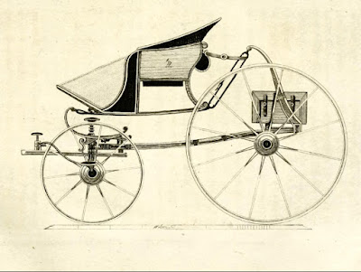 Middle-sized perch phaeton from A Treatise on carriages by W Felton (1796)