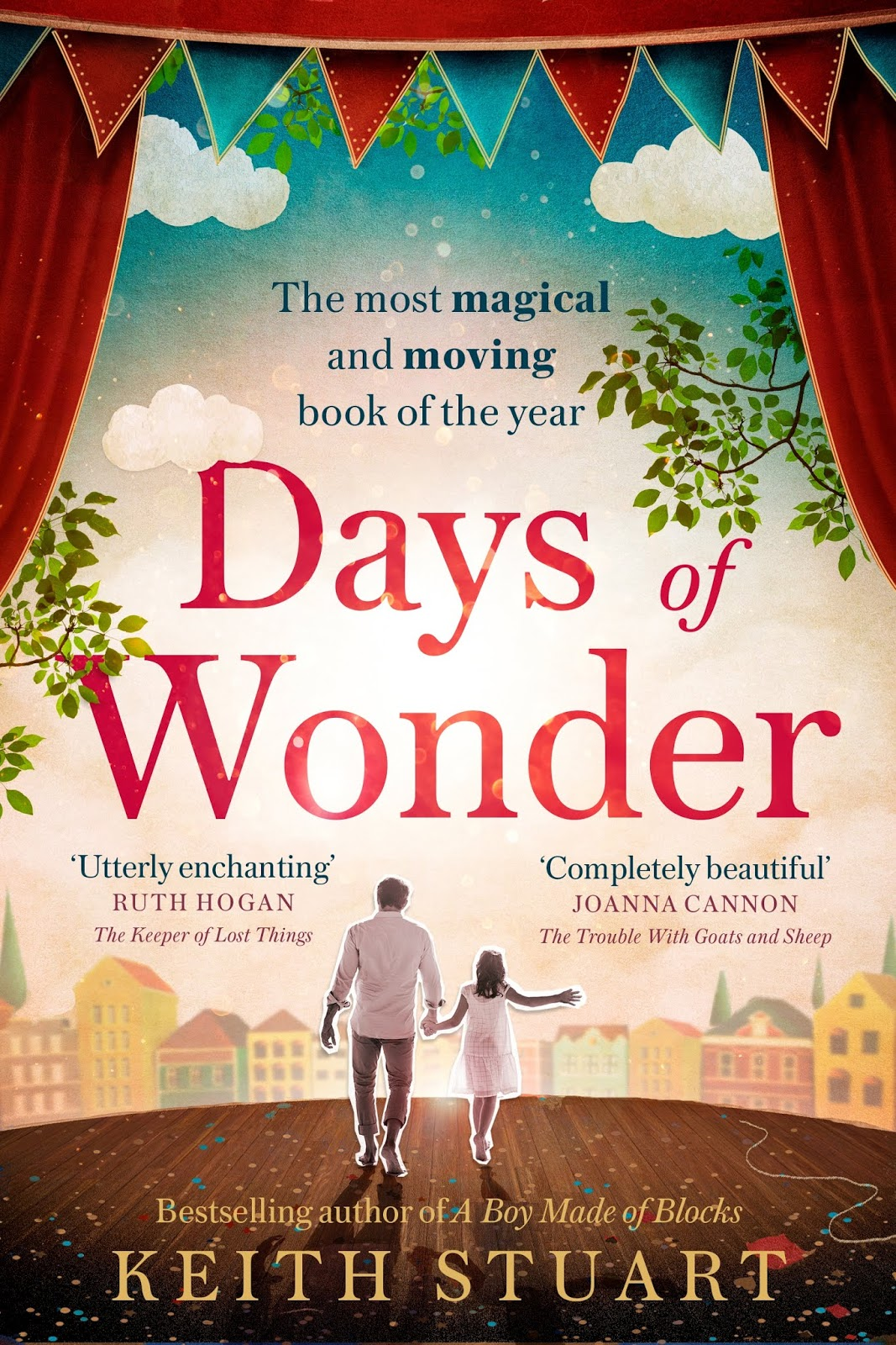Cover image of 'Days of Wonder' book with father and daughter image on stage