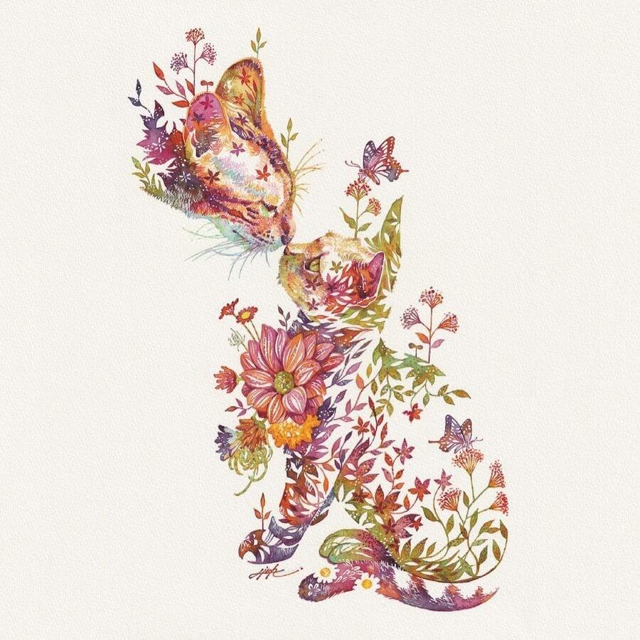 08-Cats-nuzzling-Hiroki-Takeda-タケダヒロキ-www-designstack-co