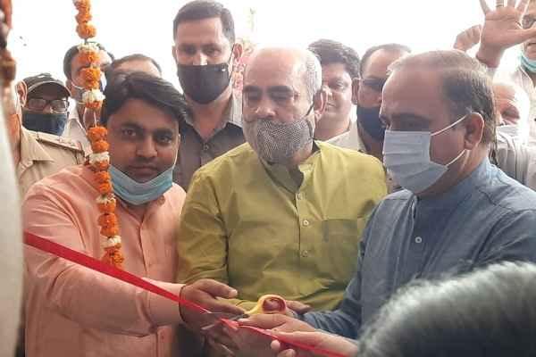 faridabad-rajiv-colony-minister-moolchand-sharma-inaugurated-dispensary