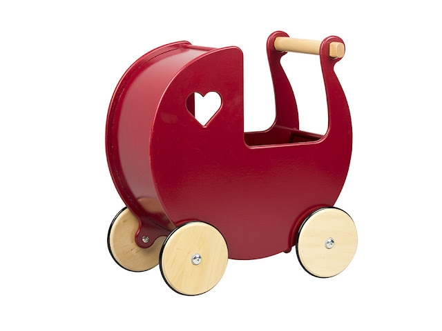 Moover red dolls pram