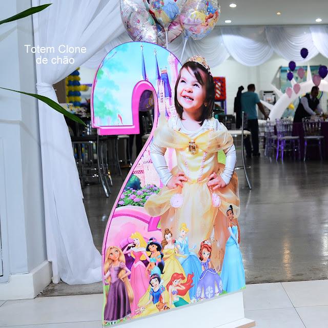 Totem de Chão As Princesas  Disney dicas e ideias para decoração de festa personalizados