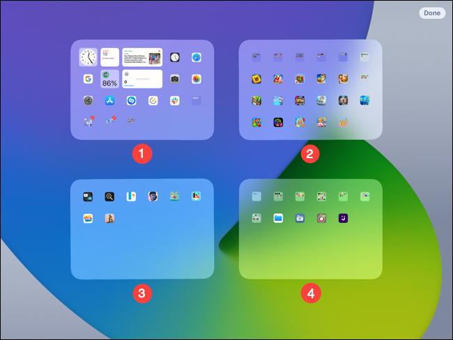 ترتيب الشاشة على iPad