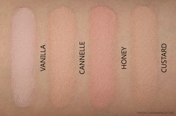 NARS Soft Matte Complete Concealer Vanilla Custard Cannelle Honey Swatches