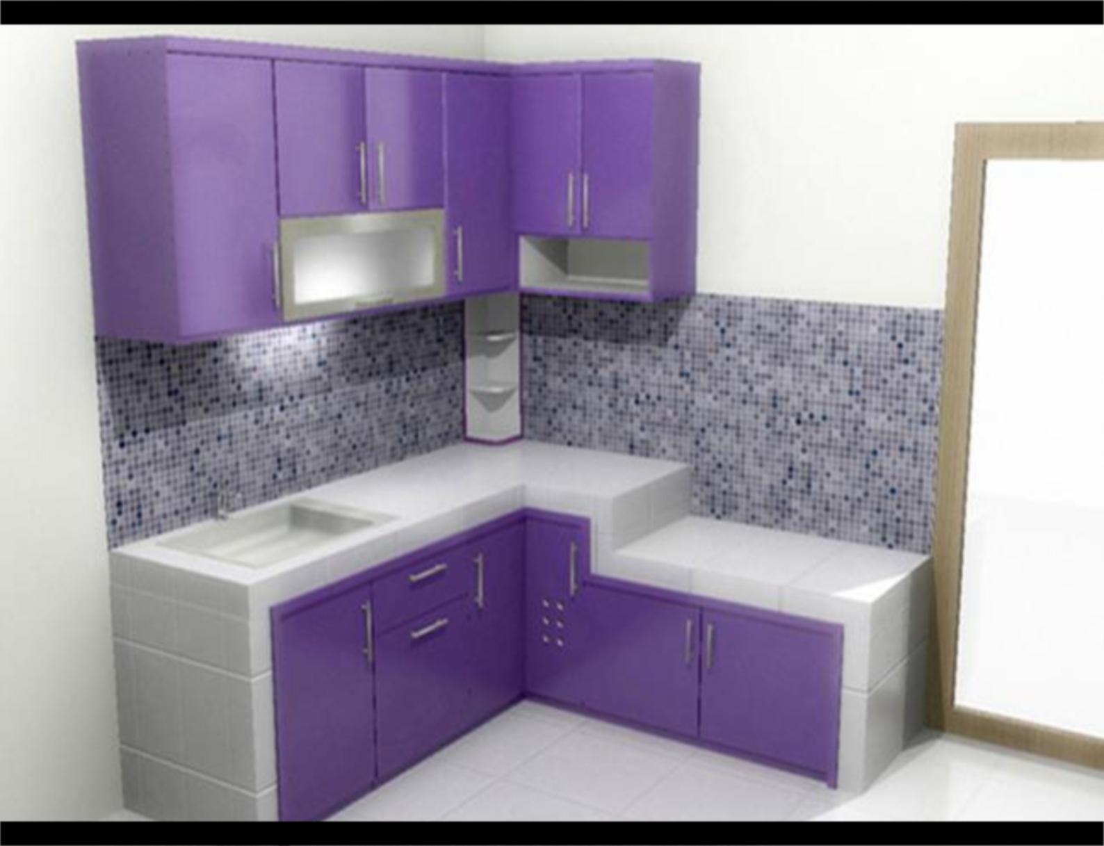 Design Interior Dapur Warna Ungu Gambar Desain Rumah Minimalis