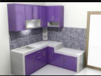 Desain Dapur Minimalis Warna Ungu