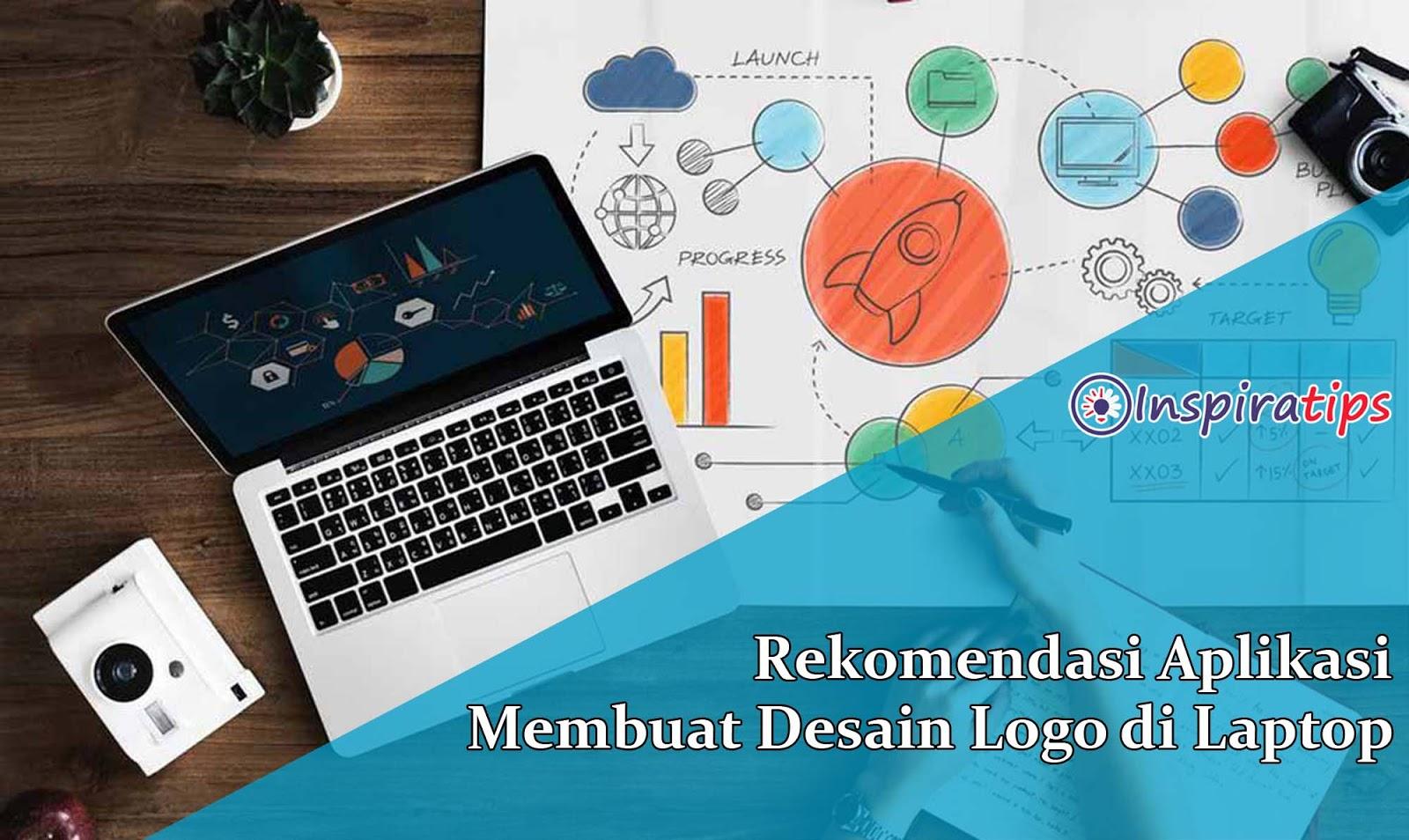 aplikasi membuat desain logo di laptop