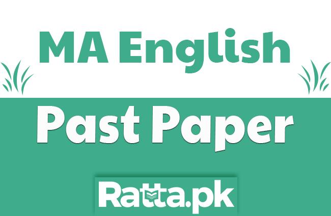 MA English American Literature Past Paper 2019