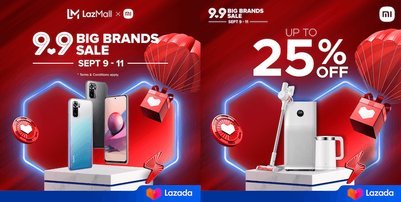 Deal: Discounted Xiaomi and POCO devices on LazMall this 9.9, price starts at PHP 369