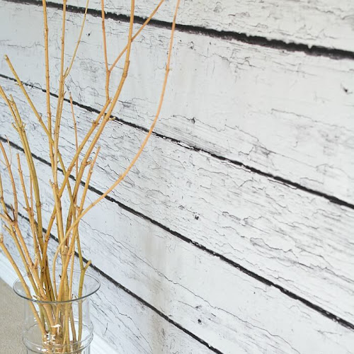 DIY Faux Barnwood Photo Backdrop Wall With EasyOff Mural