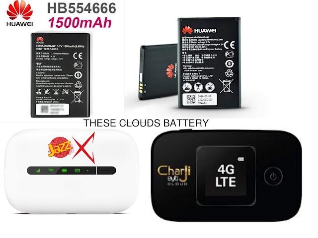 Charji Cloud Battery Huawei EC5377u OR Huawei 3G Mobilink E5330Bs Battery  HB554666RAW