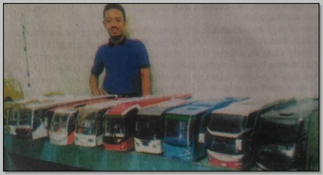 Kisah Sukses Teguh Slamet Arifin Seorang Perajin Miniatur Bus