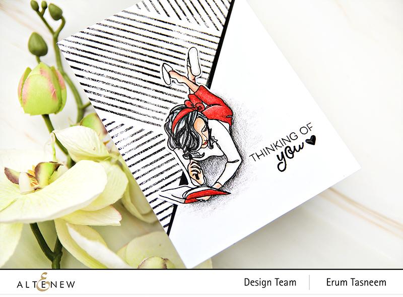 Altenew Linear Life: Daydreams Stamp Set | Erum Tasneem |@pr0digy0