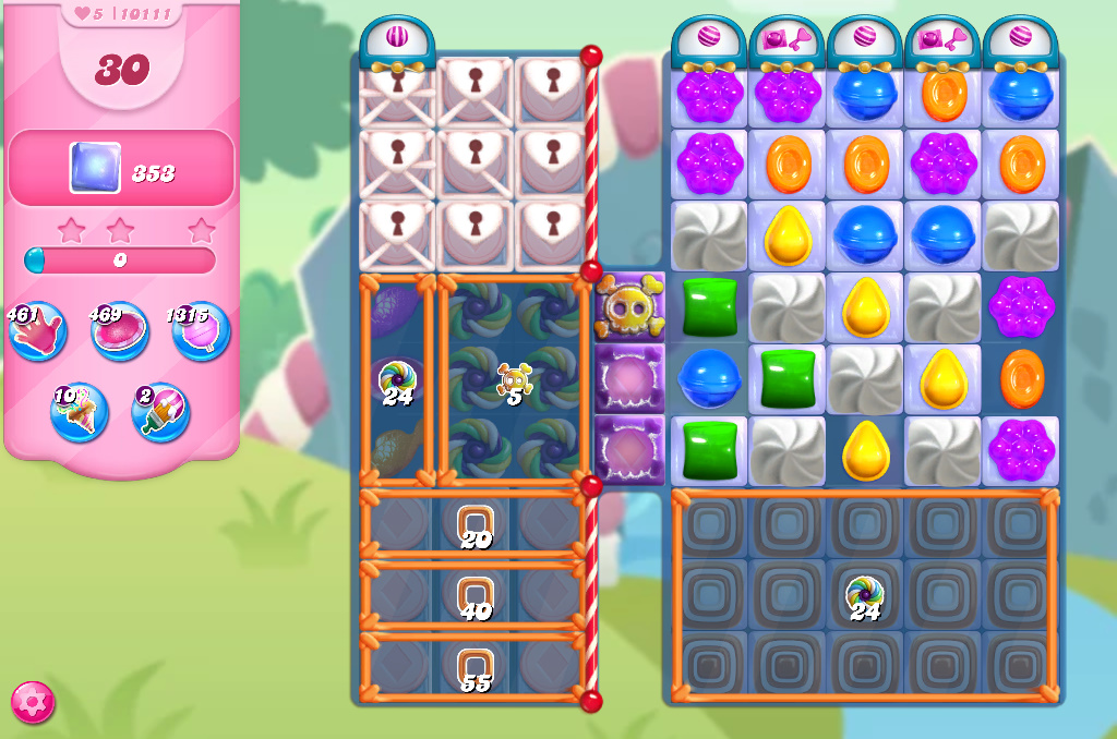 Candy Crush Saga level 10111