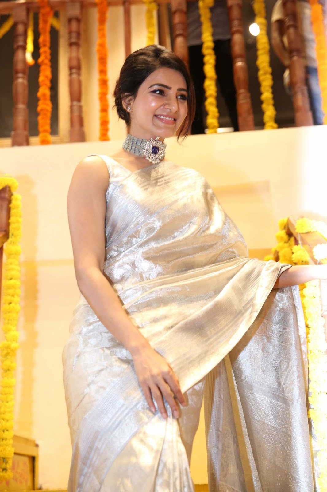 Samantha Akkineni Shines Like A Princess In White Hot Saree In Recent Event