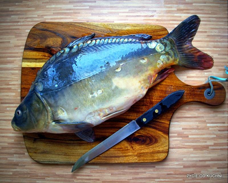 karp, karp zatorski, karp pieczone, ryba pieczona, karp z pieczarkami, zycie od kuchni, wigilia, ryba na obiad, ryba z warzywami