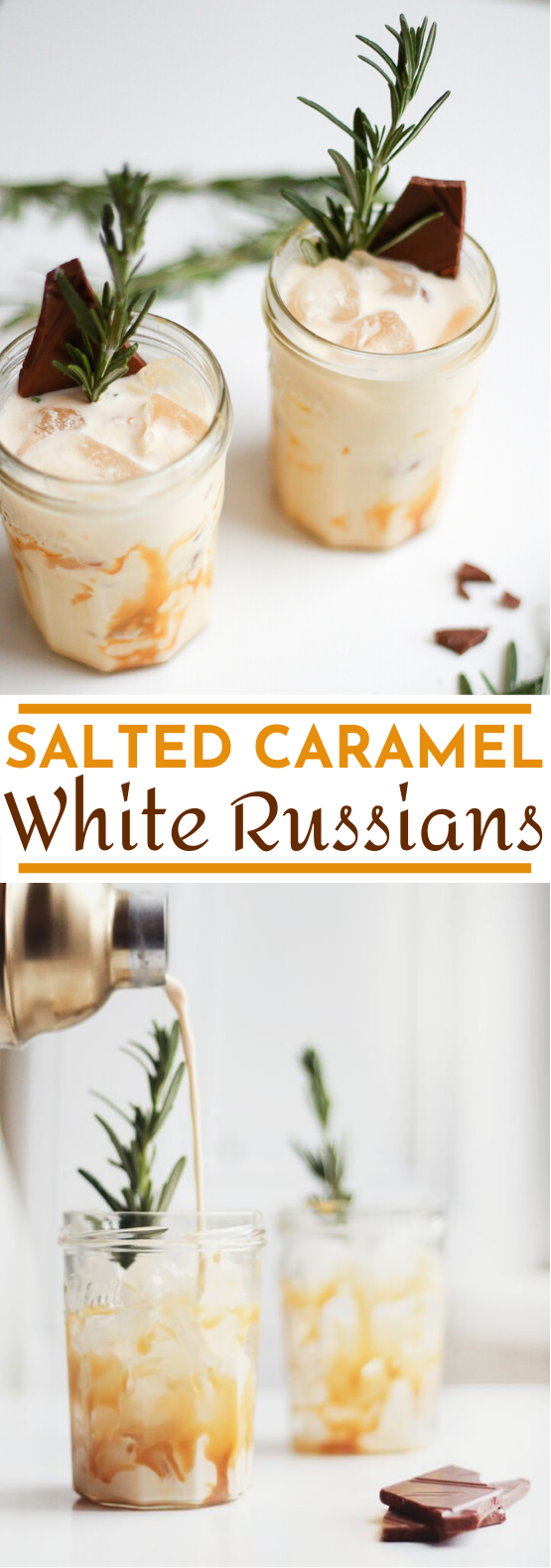 Salted Caramel White Russians #drinks #alcohol #winter #cocktails #christmas