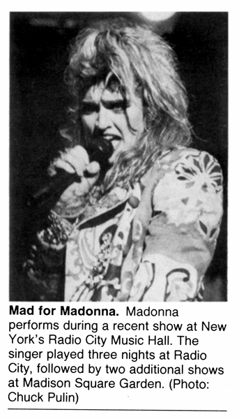 Madonna On The Cover Of A Magazine Otcoam Rare Madonna Photos Best Madonna Photos 1985 Virgin Tour Clipping Photographed By Chuck Pulin