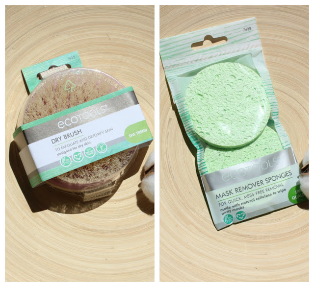 LoveLetter.com: Аксессуары от EcoTools - щетка для сухого массажа Dry Brush и спонжи для снятия масок Mask Remover Sponges / обзор, отзывы